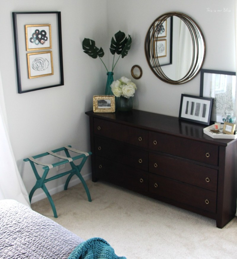 Guestroom revamp - wide shot - This is our Bliss