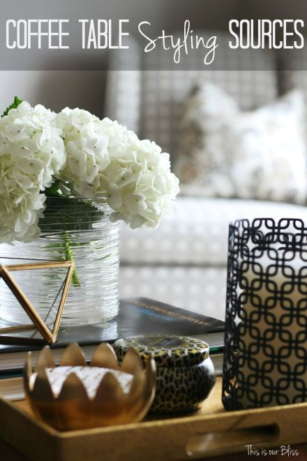 How to style a coffee table - sources - coffee table styling - elements of a well-styled coffee table - Back to Basics - This is our Bliss
