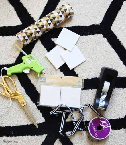DIY present ornament supplies - This is our Bliss