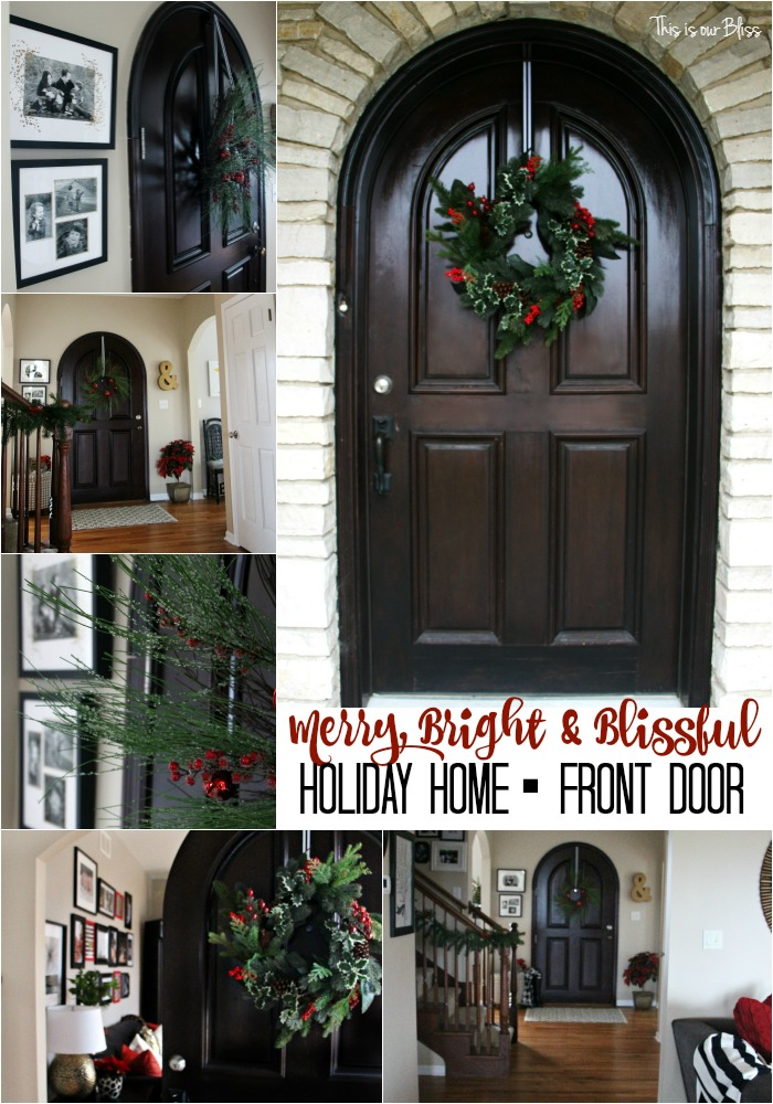Merry Bright & Blissful Holiday home - front door - This is our Bliss