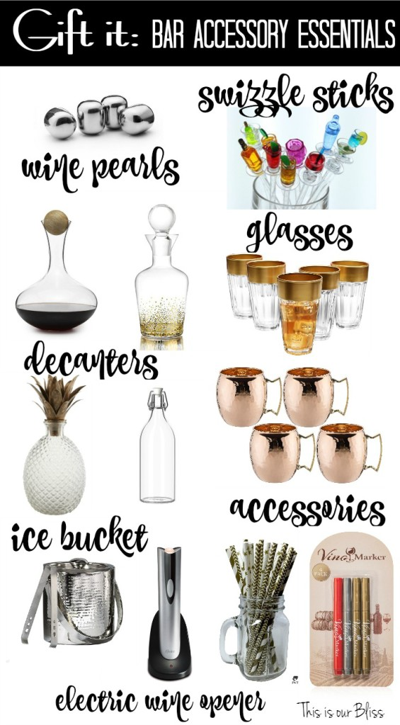 bar accessory gift guide - cocktail gift guide - this is our Bliss
