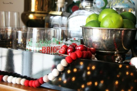 holiday bar - making spirits bright - barware and bar accessories - bar cart styling - This is our Bliss