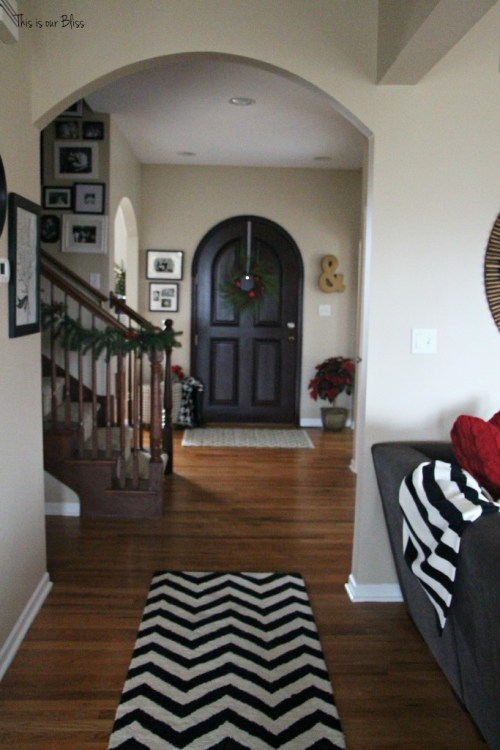 holiday home tour - entryway - front door - This is our Bliss
