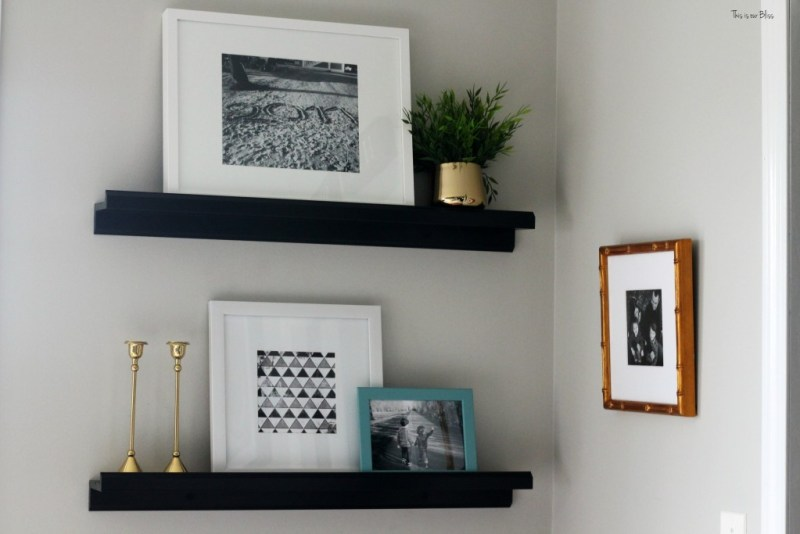 new year, new room refresh challenge - Master bedroom refresh - gold decor - floating shelves - This is our Bliss - www.thisisourbliss.com