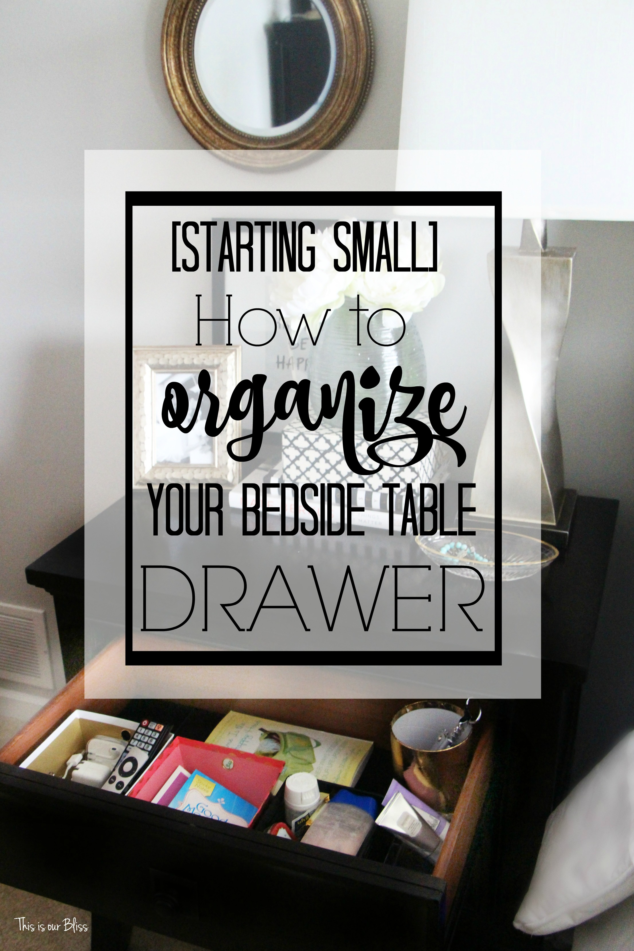 maybe ill come up with a few more 10 minute ideas and we could do them together what do you think starting small how to organize your bedside table