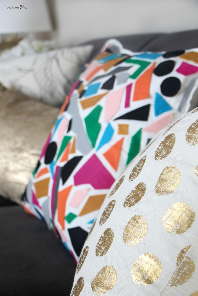 Knock it off DIY world market inspired pillow how to make a no sew felt pillow diy decor This is our Bliss