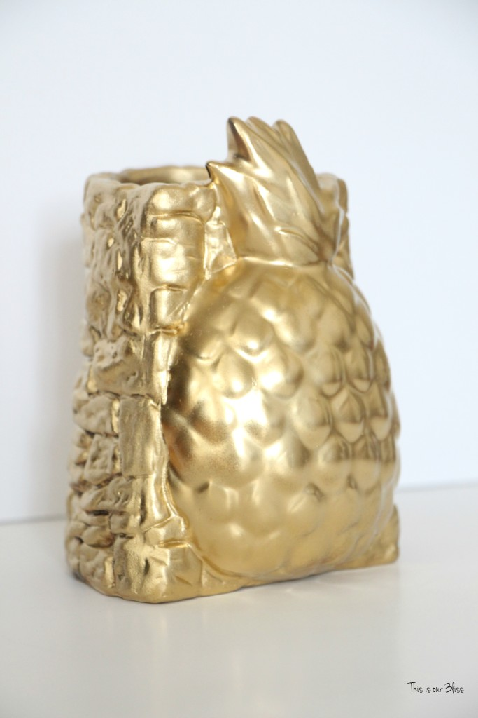 Thrifted find | Pretty Welcoming vase | gold pineapple vase 3 | Its so ugly its cool thrift challenge || This is our Bliss