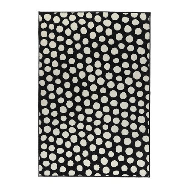 black and white polka dot rug | This is our Bliss