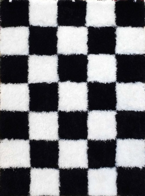 black and white checkerboard rug | This is our Bliss