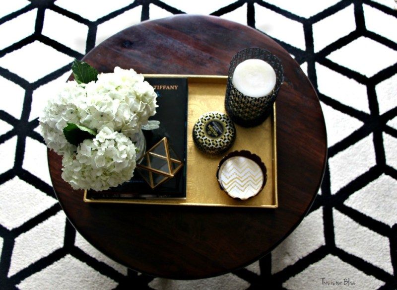 living room rug | bold black and white geometric area rug | This is our Bliss