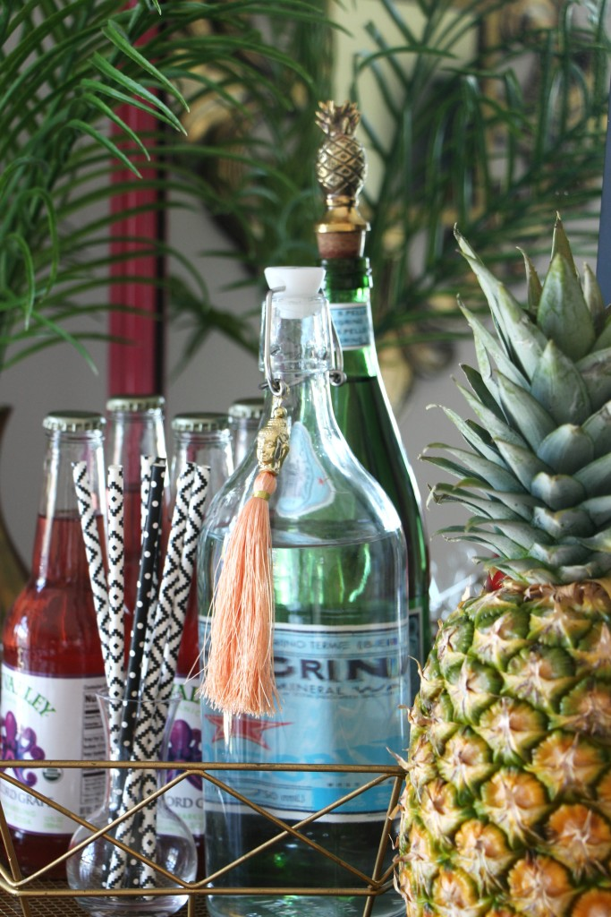 Eddie Ross Inspired by DIY | Indoor Summer Bar | Bar styling | pineapple | This is our Bliss