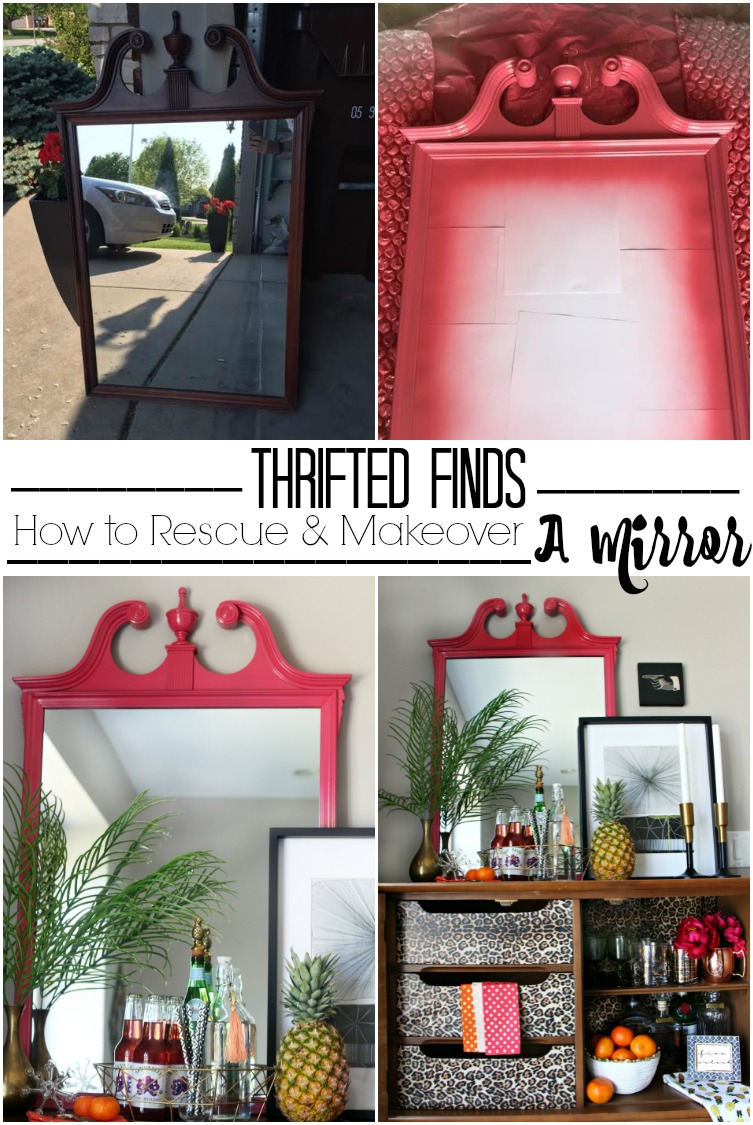 Thrifted find | how to makeover and rescue a mirror | Its so ugly its cool thrift challenge | This is our Bliss | www.thisisourbliss.com