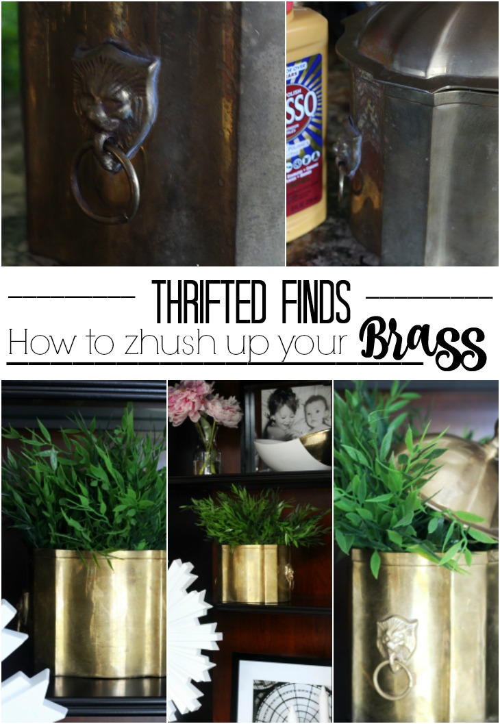 thrifted find | brass lion head bucket | its so ugly its cool | how to restore brass | This is our Bliss | www.thisisourbliss.com