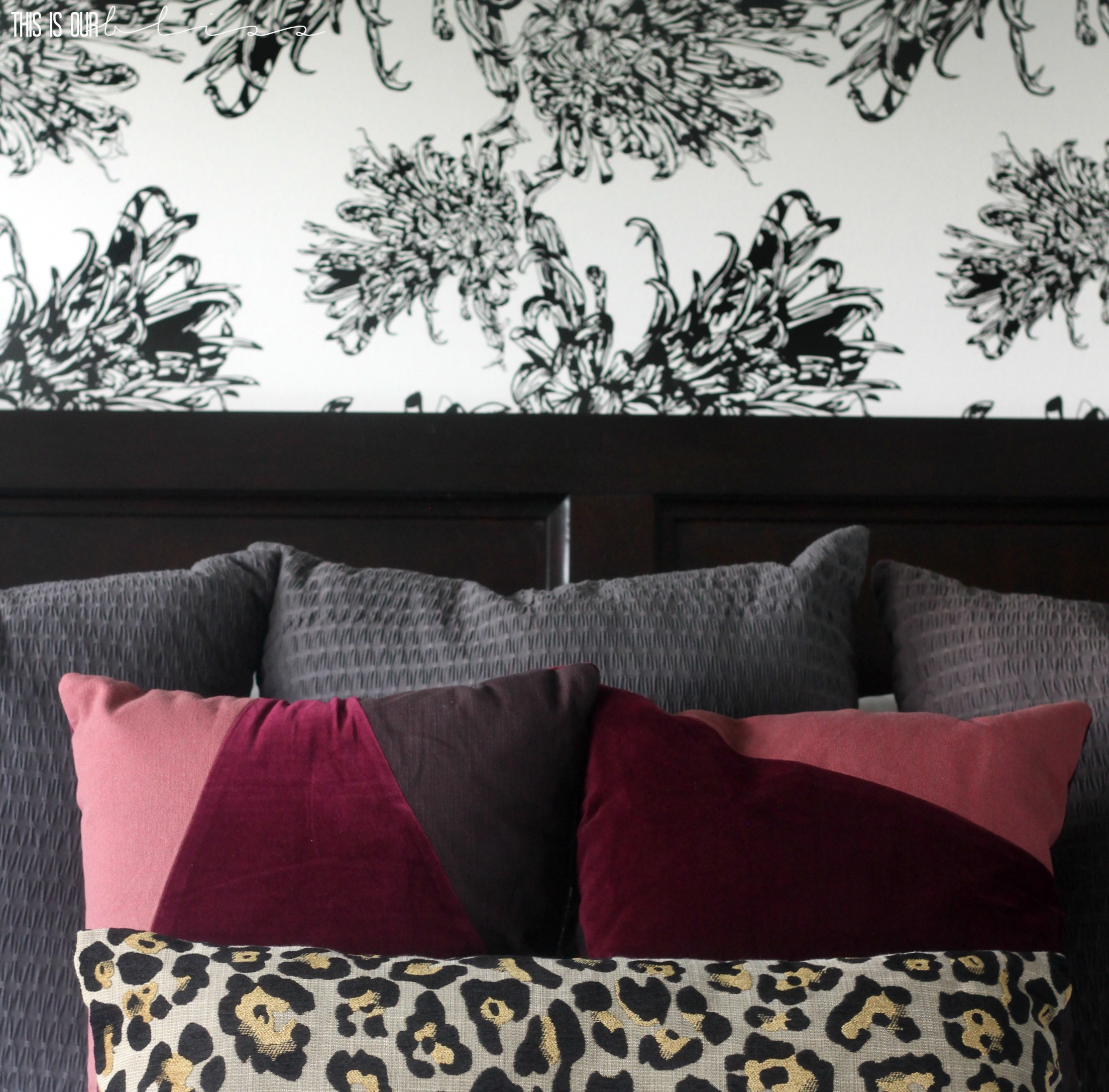 Master Bedroom Wallpaper Accent Wall: Bold Graphic Glam Fall Home Tour 2016: This Is Our Bliss