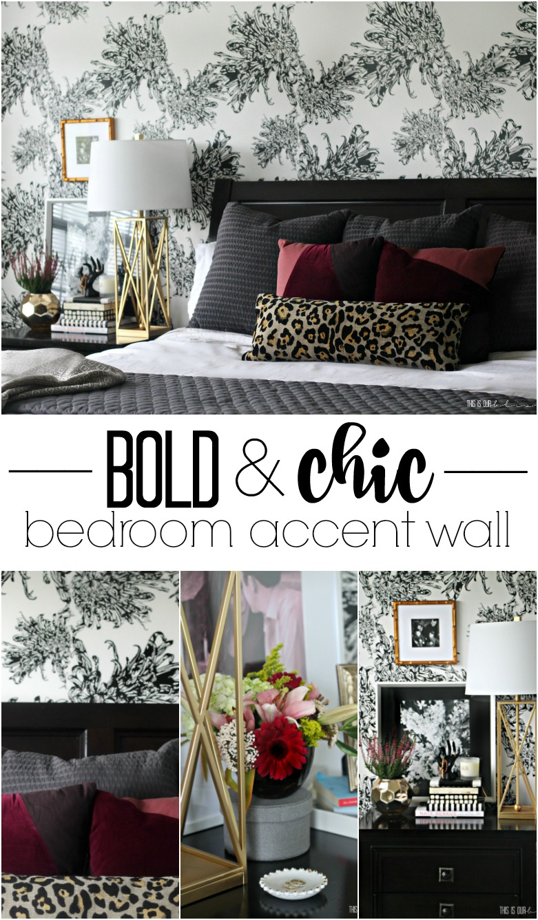 Sophisticated Statement Wall With Black And White Feminine Wallpaper!! |  Www.thisisourbliss. Part 90