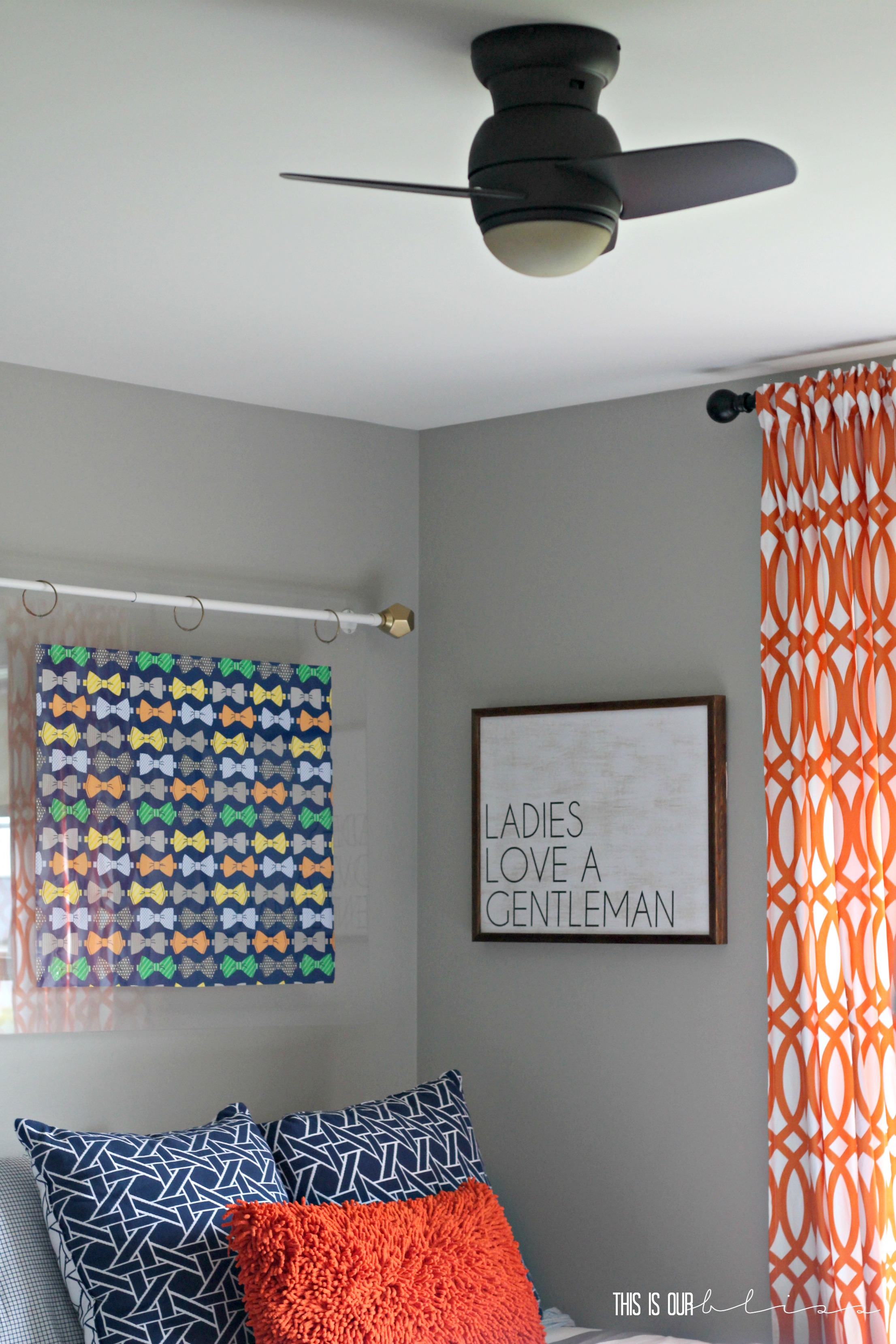 Bold & Graphic Big Boy Room Curious Little Gentleman This is