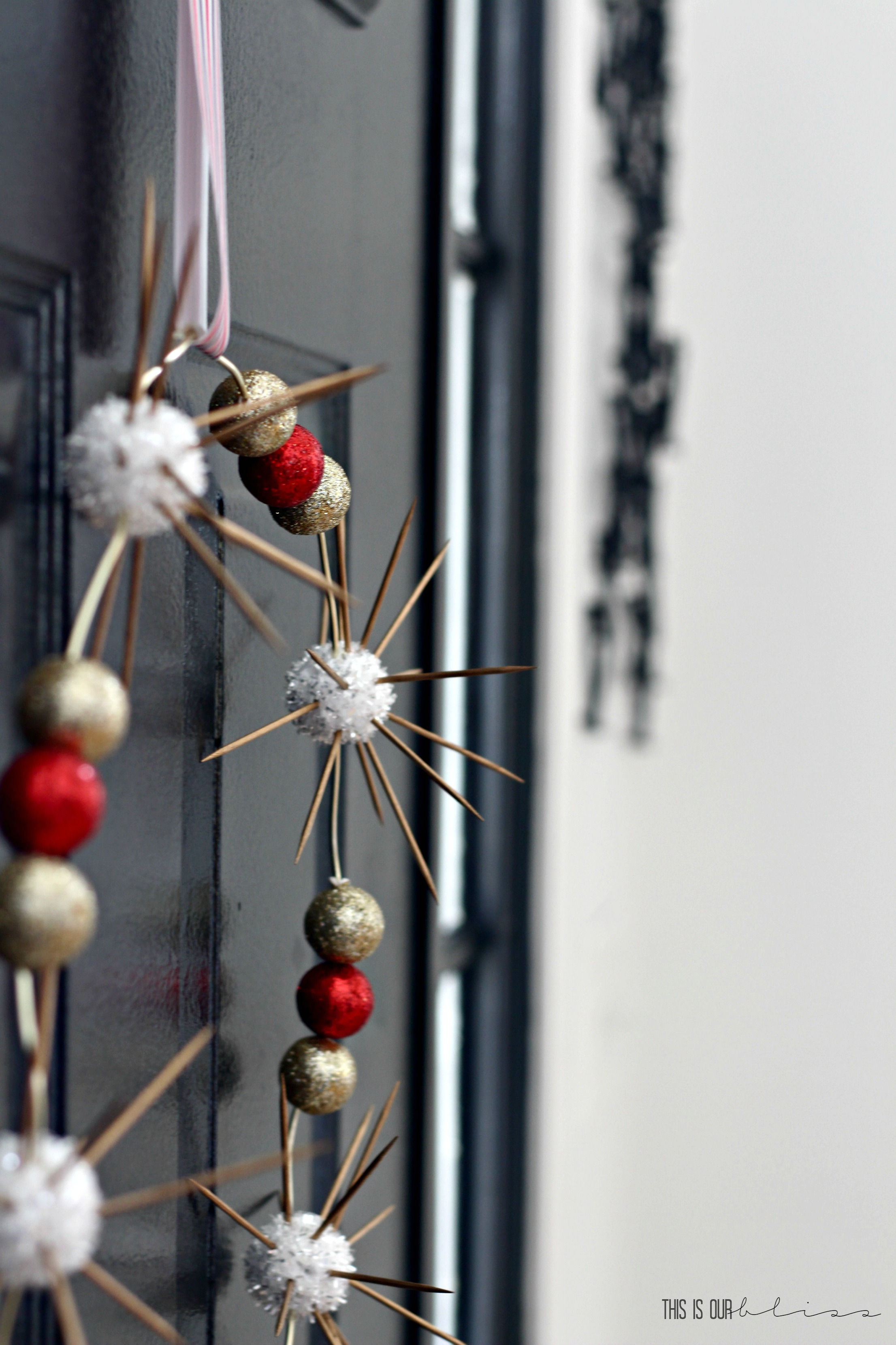 Sputnik christmas ornaments - And There Is My Modern Minimalist Wreath
