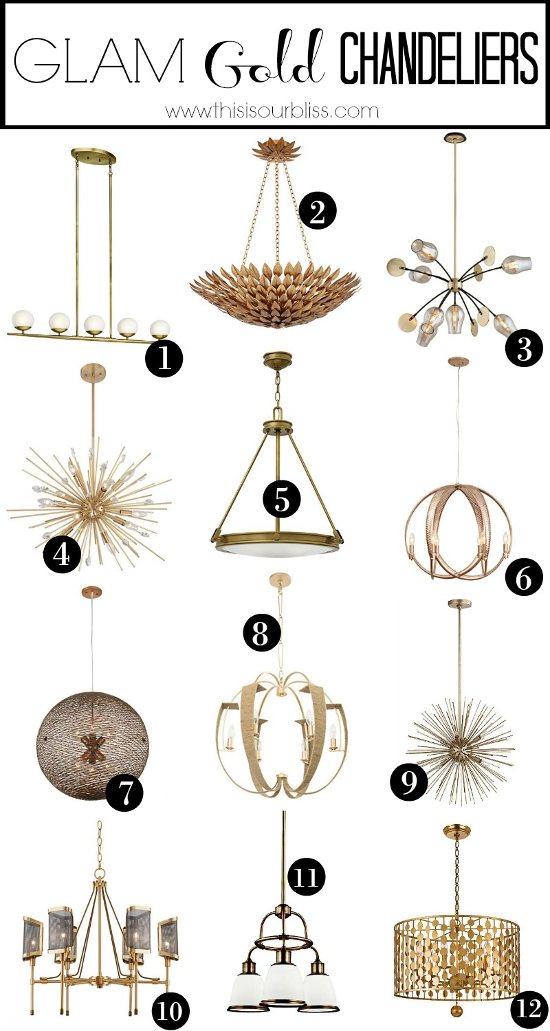 Glam Gold Chandelier Lighting Options For Our Dining Room Makeover
