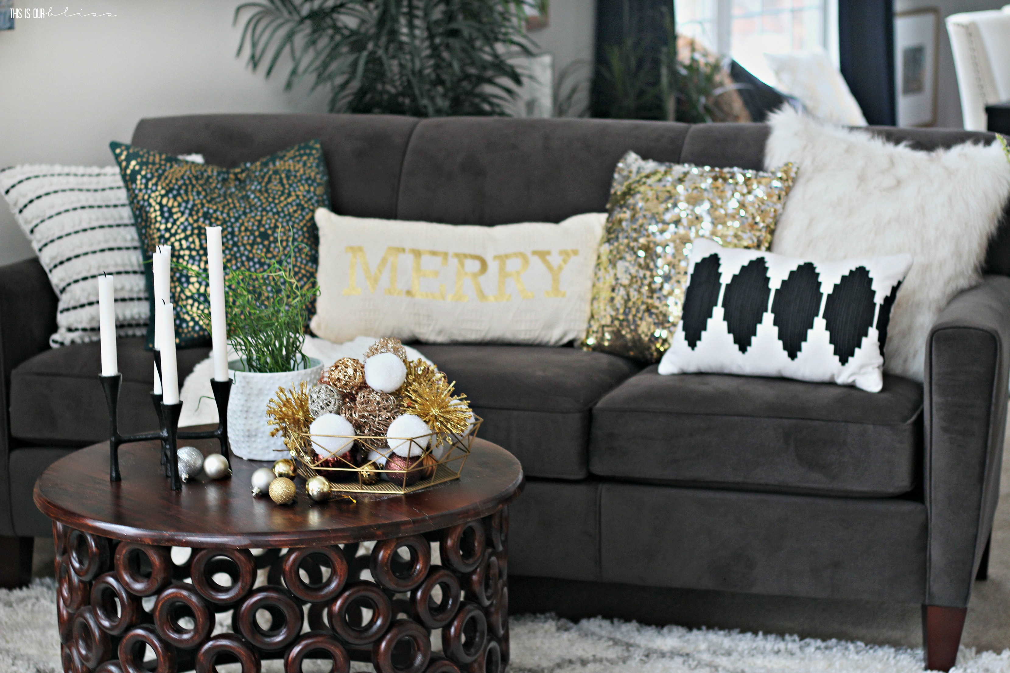 A Merry And Metallic Christmas Living Room 2016 This Is Our Bliss