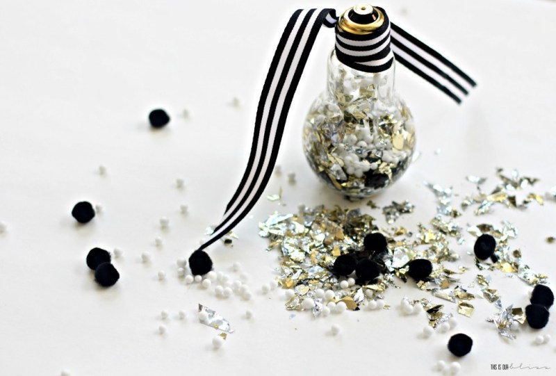 Eclectic Ornaments of Christmas Hop | DIY Foil Confetti & Pom Pom Filled Ornament | This is our Bliss | www.thisisourbliss.com