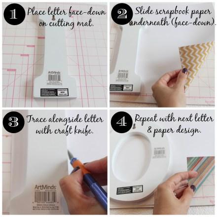 DIY Scrapbook paper letters