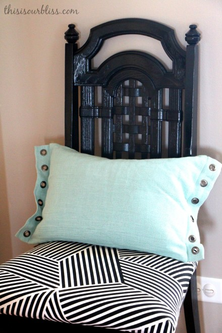DIY simple chair re-cover with funky stripes