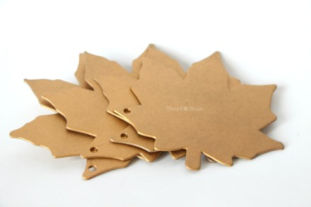 DIY gilded leaf place cards - thanksgiving table decor - diy gold
