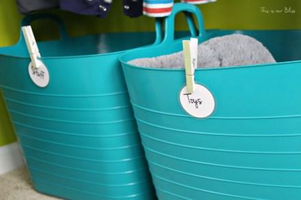 Baby boy nursery closet - DIY nursery decor - navy green gray - This is our Bliss 4