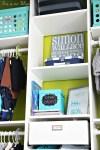 Baby boy nursery closet - DIY nursery decor - navy green gray - This is our Bliss 8