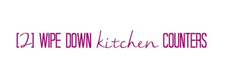 wipe down kitchen counters - Quick Fix Tidy Tips - This is our BLiss
