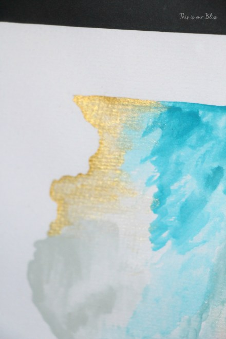 Illinois Watercolor - gold touch - Place in Progres  This is our Bliss
