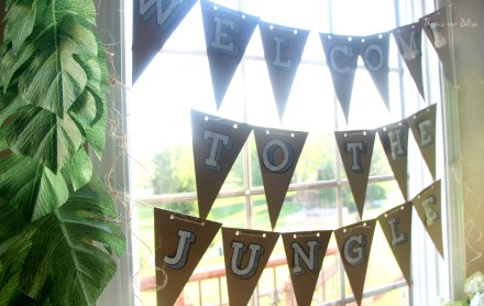 welcome to the jungle - diy bunting - safari style soiree - 1st birthday party decorations - this is our bliss