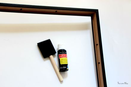 guestroom revamp - framing a frame -DIY ikea frame -  thrifted frames - open frame -This is our Bliss