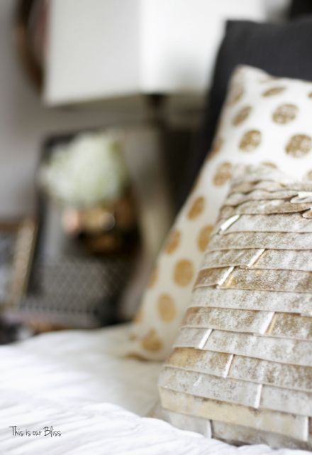 How to style a nightstand - elements of a well-styled nightstand - bedside table styling - view from the bed - This is our Bliss