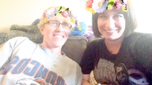 My mom hates it when I make her try Snapchat filters but I'm her daughter and she must entertain my whims.