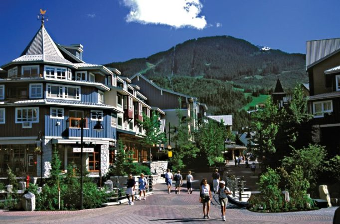 Whistler Village in the summer