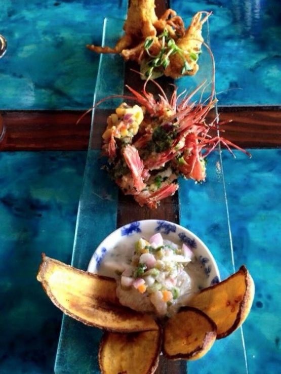 spot prawn ceviche from Chicha Restaurant