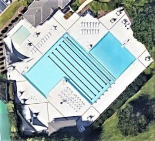 Google Map Aerial View of River Walk Pool Simpsonville SC