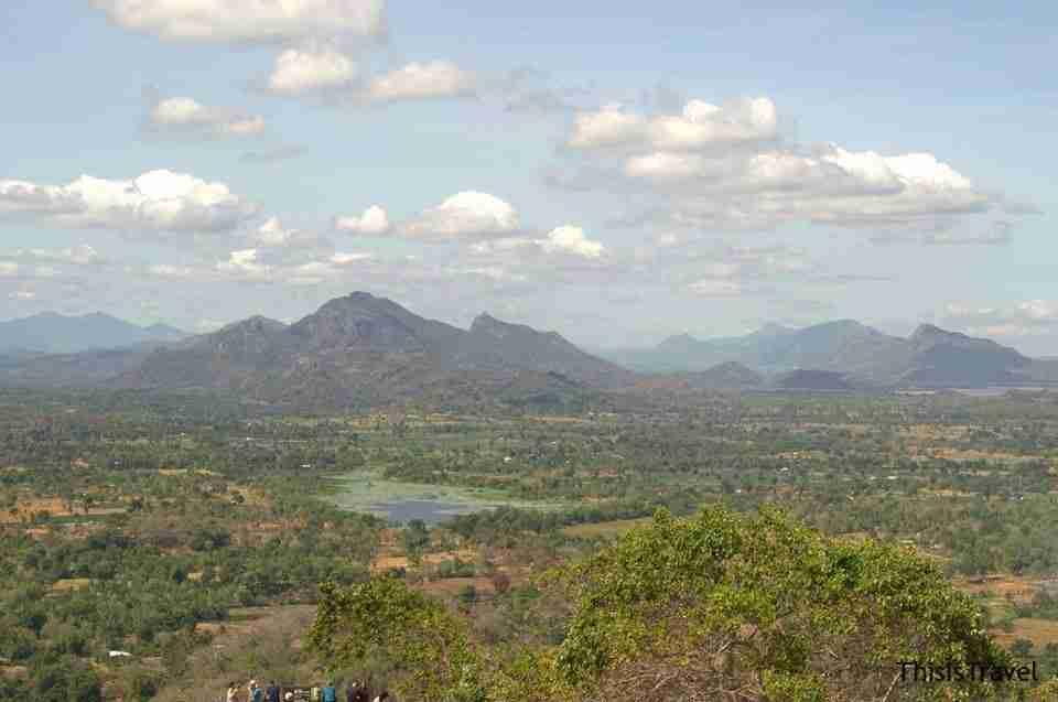 Vista desde lo alto del Sigiriya