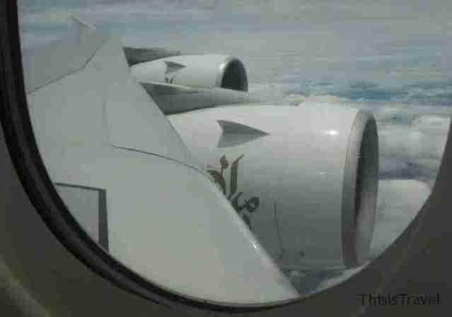 vistas desde el A380 con Emirates
