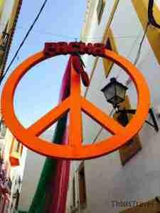 decoracion de las calles de Ibiza