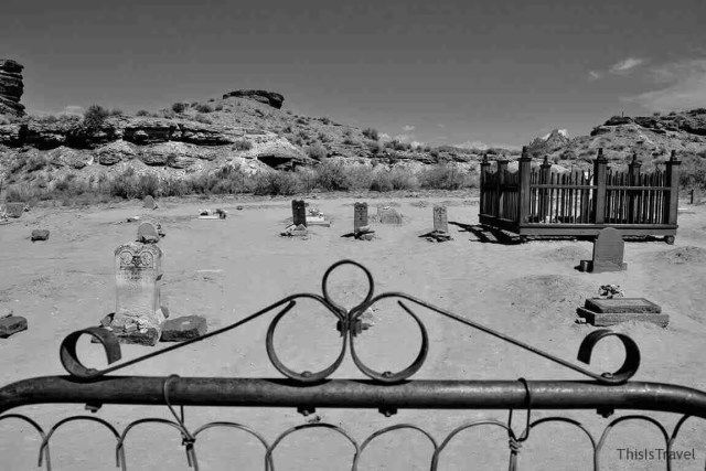 cementerio del ghost town Grafton (Utah)