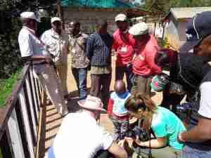 Drone y la gente de kenia