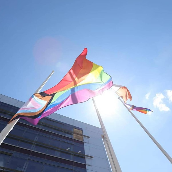 Flags raised By Mayor Geoghegan and Minister O'Gorman. Courtesy of Christina Gismondi