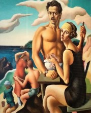 Self portrait of the artist Thomas Hart Benton and his wife Rita
