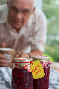 Grandpa admiring our jam