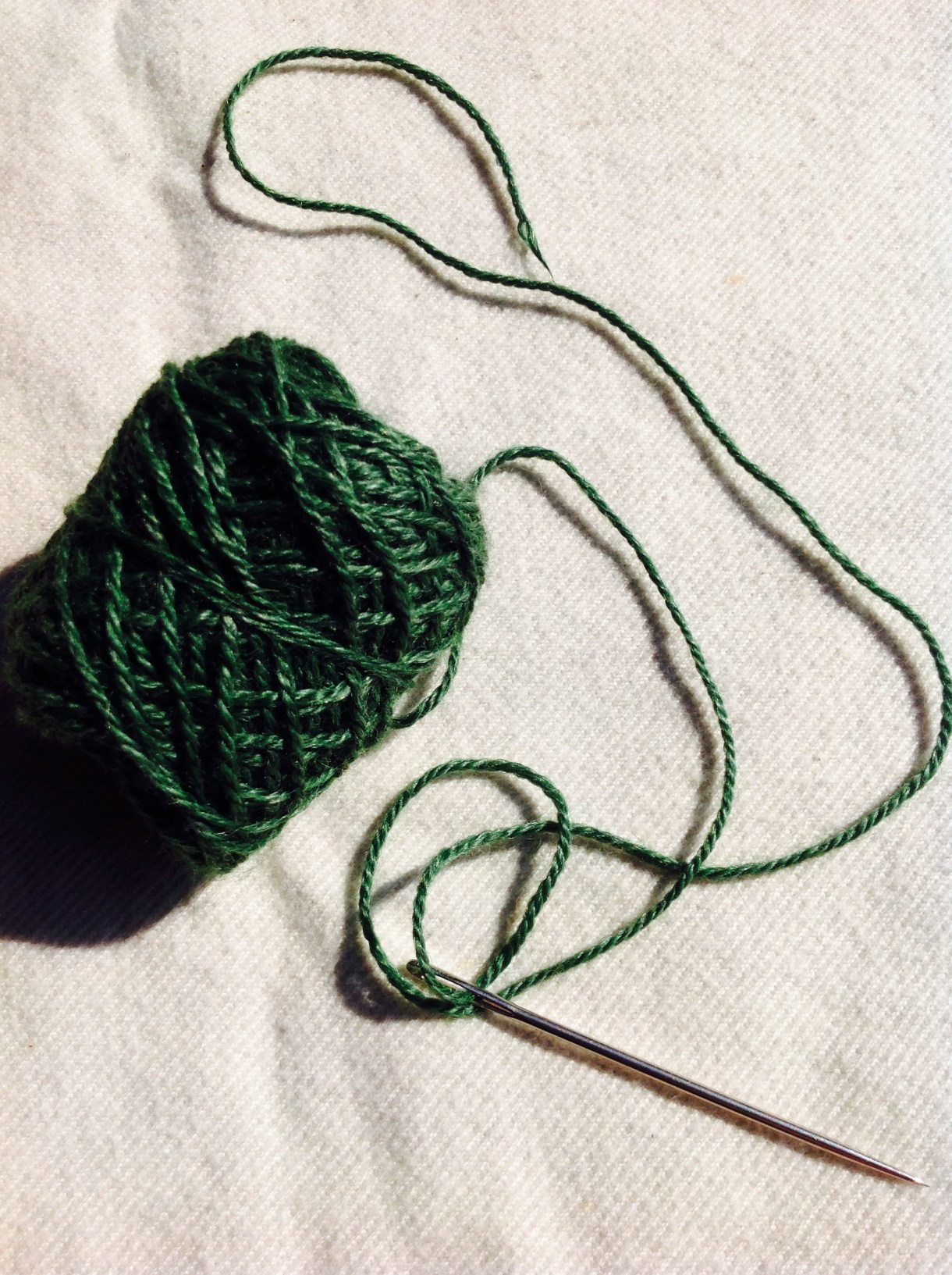 Lessons from sweater seaming. AKA how NOT to seam your sweater.