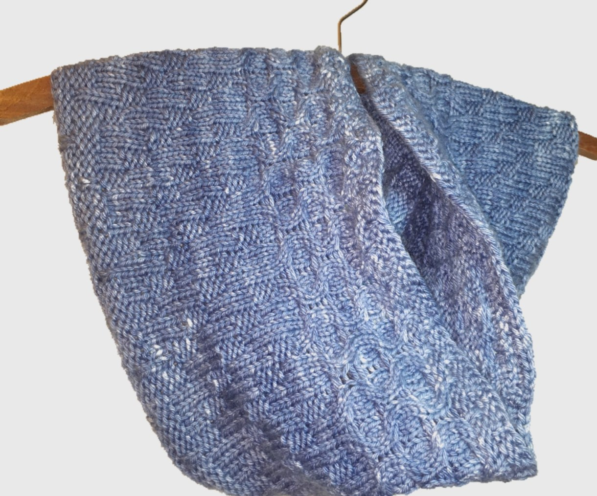 A knitted cowl. Simple and beautiful.