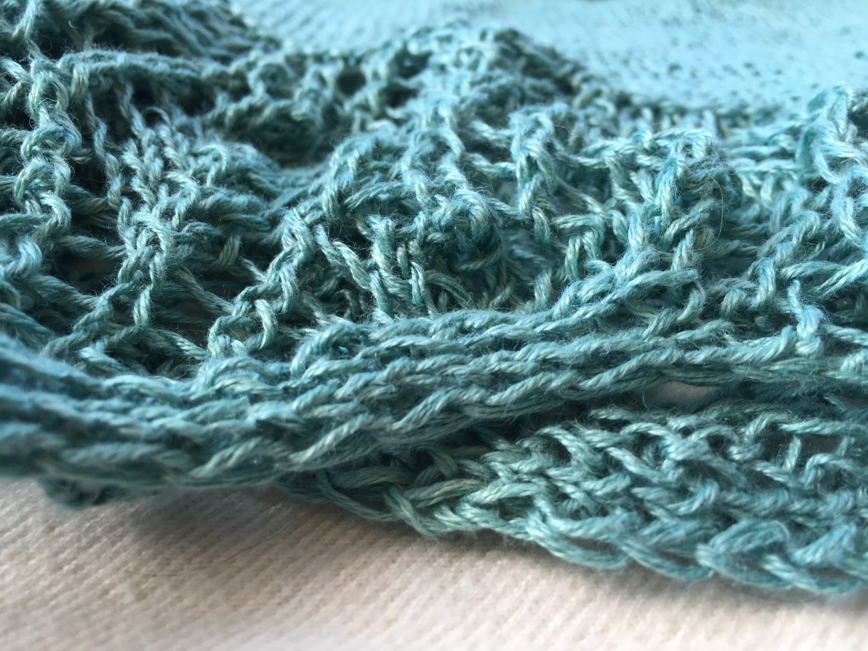 Bottom up knitting: saving the tricky bits for last.