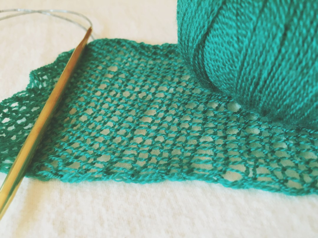 Even knitting a lace swatch can be tricky! But doable!